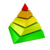 Layered pyramid — Stock Photo