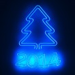 Neon New Year — Stock Photo