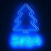 Neon New Year — Stock Photo