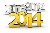 2014 is coming — Stock Photo