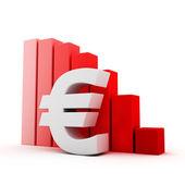 Euro recession — Stock Photo