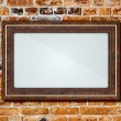 Frame on a brick wall — Stock Photo