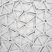 White triangles — Foto Stock