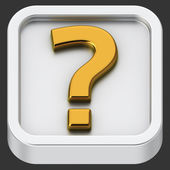 Question app — Stock Photo