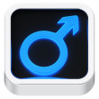Male luminous icon — Foto Stock
