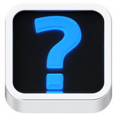 Question mark luminous icon — Stock Photo