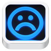 Sad luminous icon — Stock Photo