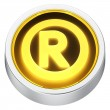 Stock Photo: Registered sign round icon