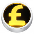 Pound round icon — Stock Photo