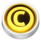 Copyright round icon — Stock Photo