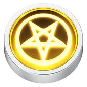 Pentagram round icon — Stock Photo