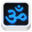 Aum luminous icon — Stock Photo