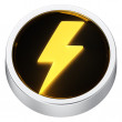Lightning round icon — Stock Photo