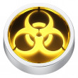 Stock Photo: Biohazard round icon