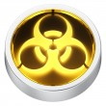 Biohazard round icon — Stock Photo