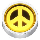 Peace round icon — Stock Photo