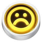 Sad round icon — Stock Photo