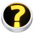 Question mark round icon — Stock Photo