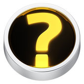 Question mark round icon — Stock Photo