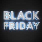 Luminous Black Friday — Stock Photo