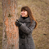 Beautiful woman in winter fashion — Stock Photo