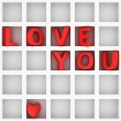 Love You in grid — Stock Photo #40002363