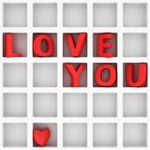 Love You in grid — Foto Stock