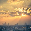 Picturesque sunset in Bangkok — Stock Photo