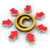 Copyright in the spotlight — Stock Photo