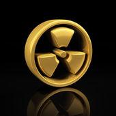 Ouro radioativo no preto — Fotografia Stock