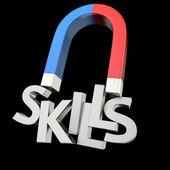 Skills magnet — Stock Photo