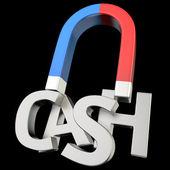 Magnetizing CASH — Stock Photo