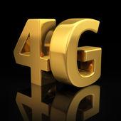 4G on black — Стоковое фото