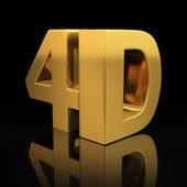 4D letters — Stock Photo