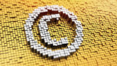 Pixelated Copyright — Stock Photo