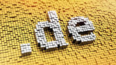 Pixelated domain de — Stock Photo