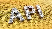 Pixelated API — Stock Photo