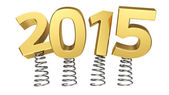2015 on springs — Stock Photo