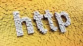 Pixelated HTTP — Stock Photo
