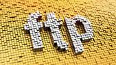 Pixelated FTP — Stock Photo