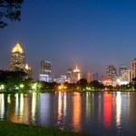 Night Bangkok skyline — Stock Photo #5445329