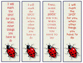 Bookmarks for Kids, with Ladybug and Little Verse — Stock Photo