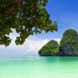 Beautiful rock on Railay beach — Stock Photo