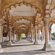 Many arches inside Red Fort — Foto Stock