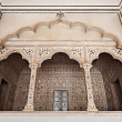 Many arches inside Red Fort — Stockfoto