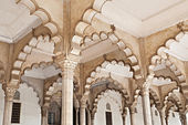 Many arches inside Red Fort — Stock Photo