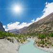 Beautiful landscape in Himalayas — Stock Photo