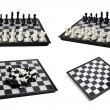Chess board with figures — Foto de Stock