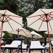 Chairs and umbrellas — Stockfoto
