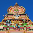 Facade of the hindu temple - Stockfoto